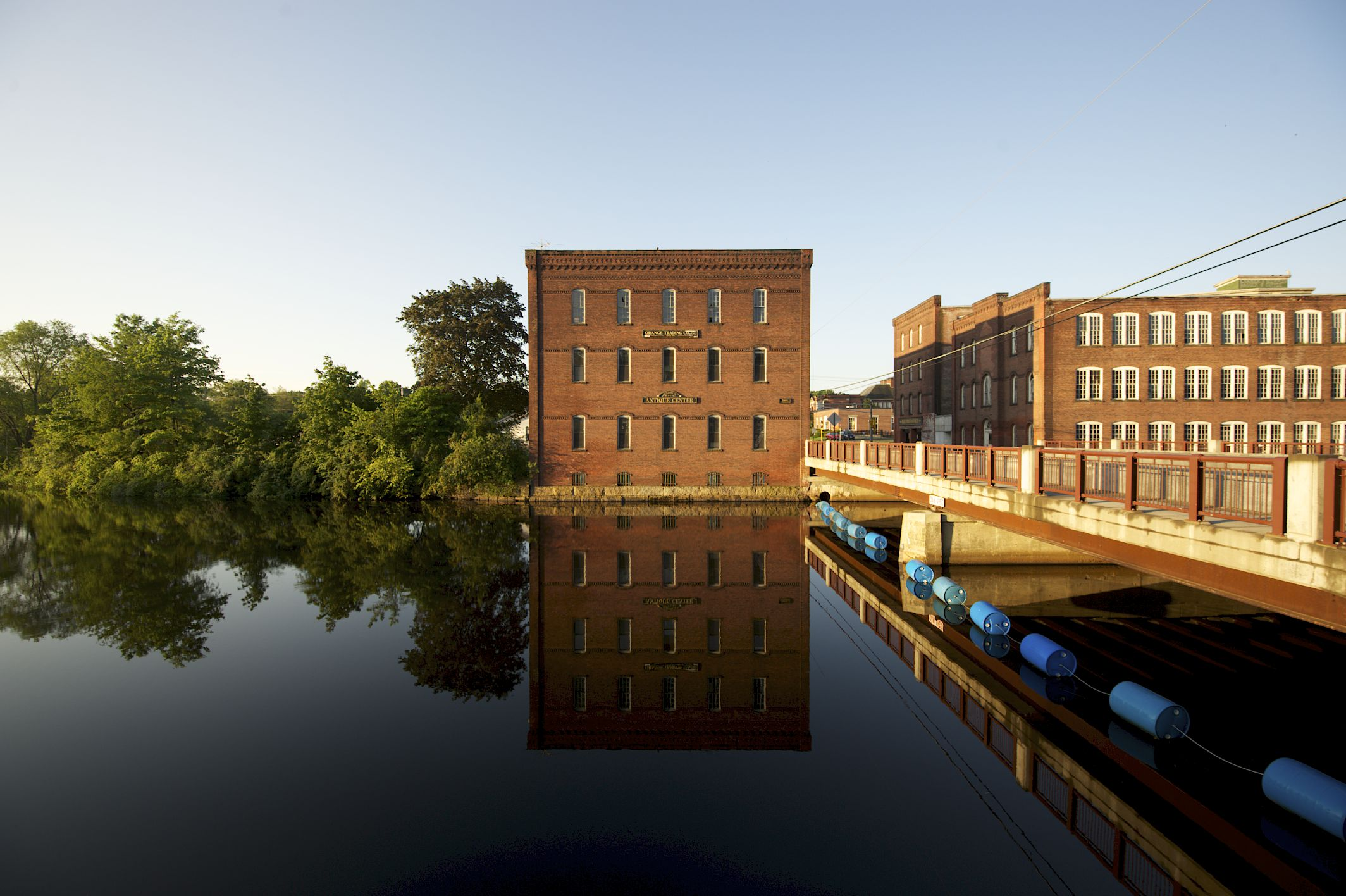 Millers River and Mill Building in Orange, Massachusetts